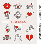 love line icon set isolated.... | Shutterstock .eps vector #365817704