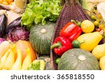 colorful fruits and vegetables... | Shutterstock . vector #365818550