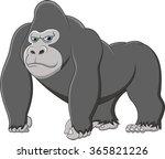 happy gorilla cartoon | Shutterstock . vector #365821226