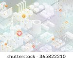 internet of things  city and... | Shutterstock .eps vector #365822210