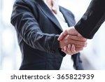 business woman giving a... | Shutterstock . vector #365822939