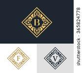 monogram design elements ... | Shutterstock .eps vector #365824778