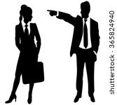 business man pointing at woman   Shutterstock .eps vector #365824940