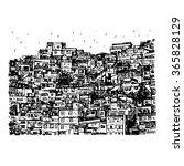 favela  brazilian slum in rio...   Shutterstock .eps vector #365828129