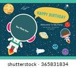 happy birthday invitation card... | Shutterstock .eps vector #365831834