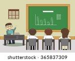 nice teacher presenting on... | Shutterstock .eps vector #365837309