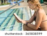 young  beautiful blond girl... | Shutterstock . vector #365838599