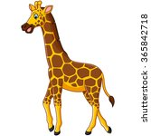 cute giraffe cartoon | Shutterstock . vector #365842718