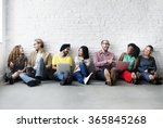 diverse people digital device... | Shutterstock . vector #365845268