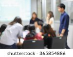 blurred teacher and student... | Shutterstock . vector #365854886