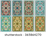collection retro cards. ethnic... | Shutterstock .eps vector #365864270