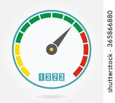 speedometer or tachometer icon. ... | Shutterstock . vector #365866880