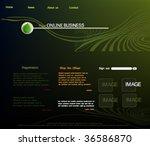 web site template  vector | Shutterstock .eps vector #36586870