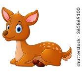 cute deer cartoon | Shutterstock .eps vector #365869100