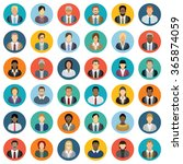 business people icons   set of... | Shutterstock .eps vector #365874059