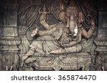 ganesha god statue in public... | Shutterstock . vector #365874470