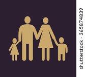the family icon. family symbol. ... | Shutterstock .eps vector #365874839