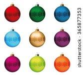 set of festive christmas... | Shutterstock . vector #365877353
