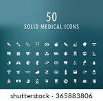set of 50 universal medical... | Shutterstock .eps vector #365883806