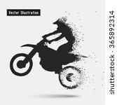Motorcycle Riders. Vector Eps1...