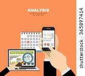 flat design illustration... | Shutterstock .eps vector #365897414
