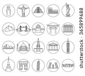 popular travel landmarks icons  ...