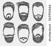 vector hand drawn hipster beard ...   Shutterstock .eps vector #365903666