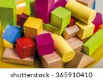 untidy variety wooden colorful... | Shutterstock . vector #365910410