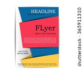 colorful and bright flyer for... | Shutterstock .eps vector #365911310