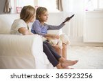 who has a remote control  has... | Shutterstock . vector #365923256