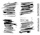 set of grunge brush strokes... | Shutterstock . vector #365925830
