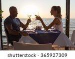 Couple In Sea  Restaurant
