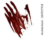 Handprint Blood Smeared