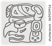 monochrome icon with glyphs of... | Shutterstock .eps vector #365929916