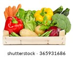 fresh vegetables in a wooden... | Shutterstock . vector #365931686