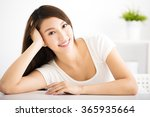 Relaxed Young Smiling Woman  I...