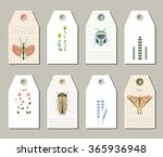 collection of 8 hang tags. set...