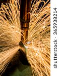 sparks close up machine spot... | Shutterstock . vector #365938214