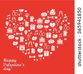 st. valentine's day line icon... | Shutterstock .eps vector #365941850