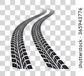 tire tracks | Shutterstock .eps vector #365943776