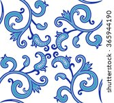 seamless pattern in blue colors.... | Shutterstock .eps vector #365944190