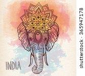 ethnic hand drawn head of...   Shutterstock .eps vector #365947178