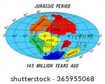 Постер, плакат: position Continents Jurassic Period