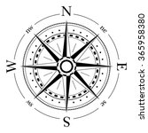 compass dial   highly detailed... | Shutterstock .eps vector #365958380