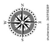 compass dial   highly detailed... | Shutterstock .eps vector #365958389