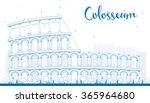 outline colosseum in rome....   Shutterstock .eps vector #365964680
