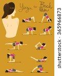yoga for back pain   Shutterstock .eps vector #365966873