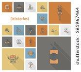 oktoberfest beer festival | Shutterstock .eps vector #365967464