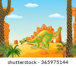 adorable cute dinosaur with... | Shutterstock . vector #365975144