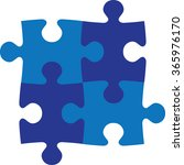 puzzle   jig saw puzzle | Shutterstock .eps vector #365976170